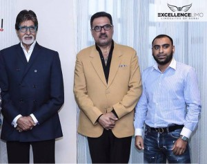 Bollywood actors Amitabh Bachchan and Boman Irani